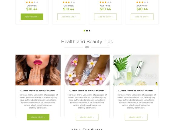 Health and beauty shopify store